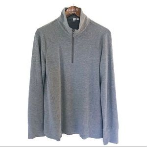 CABLE & GAUGE Gray 1/4 Zip Pullover XL
